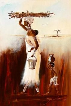 Purchase artwork Wood and Water - Mixed Media by South African Artist Jen Adam African Artwork, African Art Paintings, Black Women Art, Black Art, Afrique Art, Arte Obscura, South African Artists, Art Africain, African American Art