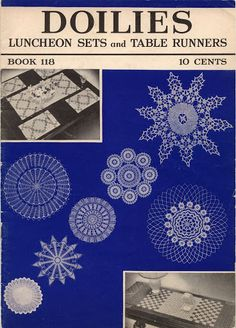 1938 The Spool Cotton Company Doilies Luncheon Sets and Table Runners Book 118 - Christine Anderson - Álbuns da web do Picasa