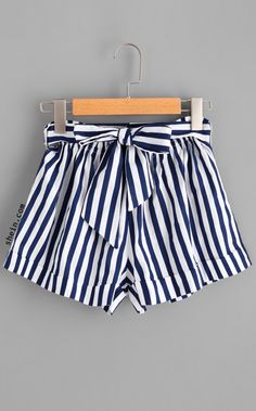 Shop Striped Self Tie Waist Shorts online. SheIn offers Striped Self Tie Waist Shorts & more to fit your fashionable needs. Tie Waist Shorts, Belted Shorts, Striped Shorts, Elastic Waist, Women's Shorts, Sport Shorts, Running Shorts, Loose Shorts, Casual Shorts