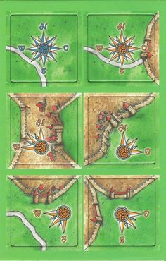 carcassonne - the wind rose