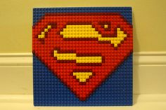 SUPERMAN Lego Mosaic 10x10 by ShockBrickInc on Etsy
