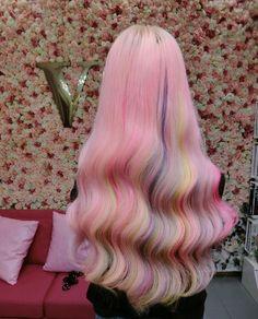 Pretty Hair Color, Beautiful Hair Color, Medium Hair Styles, Long Hair Styles, Hair Color Streaks, Coloured Hair, Dye My Hair, Aesthetic Hair, Light Hair