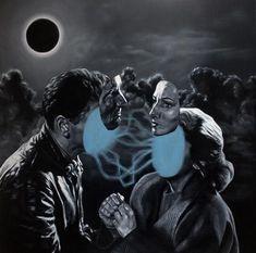 "Ross Vaughan - ""The Eclipse"" - oil on linen - 67 x 67cm (26.4""x26.4"")"
