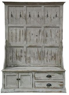 Windsor Entryway Storage Bench from Soft Surroundings- would be great in other colors for a more inviting feel