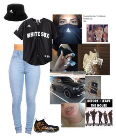 """"""""""" by uniquemiller ❤ liked on Polyvore featuring NIKE and adidas"""