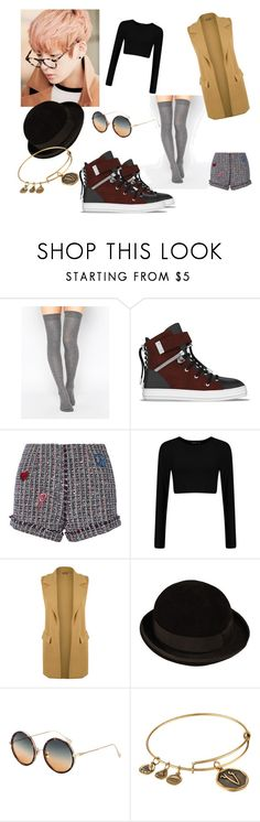 """Taehyung"" by bulletproof-girl-scout ❤ liked on Polyvore featuring ASOS, SWEAR, Steve J & Yoni P, WearAll, CÉLINE, Alex and Ani, kpop and koreanfashion"
