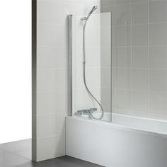 Ideal Standard New Connect 820 x Angle Bath Screen - Shower Set, Glass Shower, Reece Bathroom, Bath Shower Screens, Ideal Standard, Safety Glass, Save Water, Space Saving, Angles