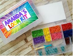 Personalized Rainbow Loom™ Kit - sure to be the hottest sought out gift for camp this summer!  Available at www.morethanpaper.com