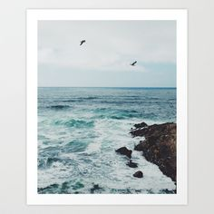 Sea Blue Art Print by Ez Pudewa (for the bedroom?)