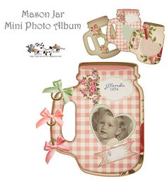 Make a mason jar photo album
