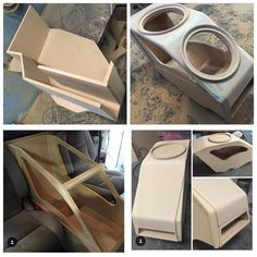 This one is going to be one sick center console box for Custom Subwoofer Box, Subwoofer Box Design, Custom Speaker Boxes, Speaker Box Design, Custom Car Interior, Truck Interior, Custom Car Audio, Custom Cars, T5 Tuning