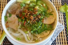 Gourmet by Kat: Vietnamese Udon noodle soup (Banh Canh Gio Heo)