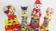 Paw Patrol Gumball Candy Machine Dispenser for Kids to Learn Colors Gum Ball Bank  Learning Toys. We learn the colors red blue white red orange purple and pink with Paw Patrol gumball bank machine. Our characters are Chase Marshall and Skye from Paw Patrol. This is an educational learning video with toys that can help with eye-hand coordination fine motor skills and learning English as a second language (ESL).  Subscribe here to never miss a video…