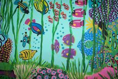 CORAL REEF Painted with DECOART ACRYLIC PAINTS