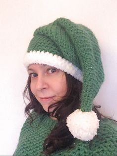 The season for Elf-Help (Free Crochet Elf Hat Pattern) - Dora Does Crochet Scarf Easy, Crochet Shell Stitch, Crochet Headband Pattern, Quick Crochet, Free Crochet, Hat Crochet, Crochet Ideas, Crocheted Hats, Irish Crochet