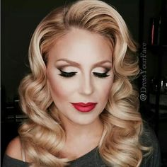 Gorgeous! Love the hair and makeup
