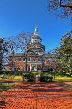 Maryland State House, Annapolis, Maryland, USA. -         Repinned by Chesapeake College Adult Ed. We offer free classes on the Eastern Shore of MD to help you earn your GED - H.S. Diploma or Learn English (ESL) .   For GED classes contact Danielle Thomas 410-829-6043 dthomas@chesapeke.edu  For ESL classes contact Karen Luceti - 410-443-1163  Kluceti@chesapeake.edu .  www.chesapeake.edu