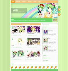 Gumi Vocaloid Blogger template