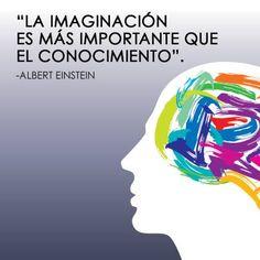 """""""La imaginación es más importante que el conocimiento."""" #AlbertEinstein #Citas #Frases @Candidman"""