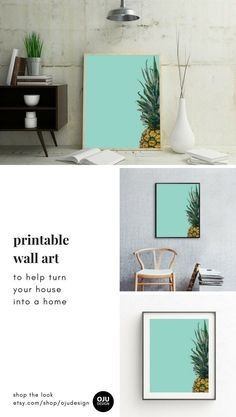 Printable tropical #wall #art #print to help turn your house into a home. Instant download on-trend modern art and minimalist art. Simple to download and easy to use. This artwork comes ready-to-print in the 25+ most popular sizes. Visit our shop to see this print and our full range of tropical prints etsy.com/shop/ojudesign