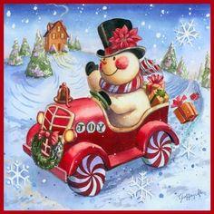 leesa whitten | In Christmas Christmas: Snowmen