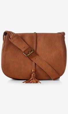 fringed saddle bag from EXPRESS