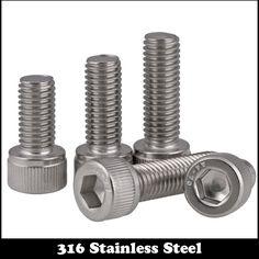 20pcs M2 12mm M2*12mm M2X12 DIN912 Screw 316 Ss Stainless Steel Cup Head Bolts Inner Hexagon Socket Screw #Affiliate