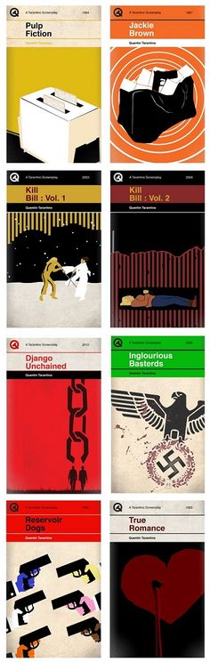 Genius! Tarantino movies as book covers