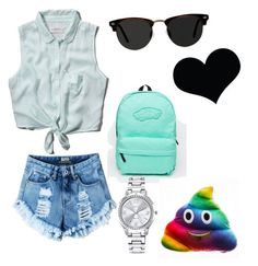 """""""Untitled #1"""" by ulyanaanis ❤ liked on Polyvore featuring Abercrombie & Fitch, Vans, Mestige and Ace"""