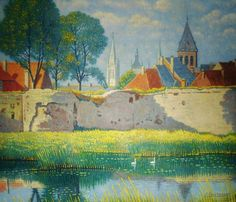 Jozef Quisthoudt - The Lille gate in Ypres by Jozef Quisthoudt