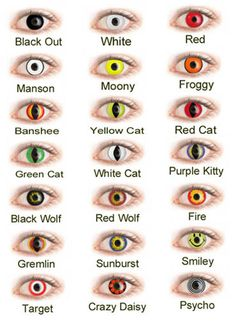 colored contacts. Would love to own some of these :).