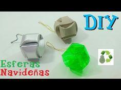 Reciclaje de varios materiales para hacer estas esferas navideñas muy fáciles+TheBrisalatina Manualidades Reciclaje