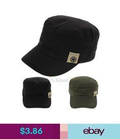 563ef33b1f8  3.86 - Men Women Classic Adjustable Army Plain Hat Cadet Military Baseball  Sport Cap W7