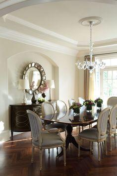 Gold & beige dining room via Holt Interiors