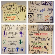 Loads of anchor charts for reading, writing and math!