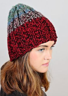 Red hat  Blue hat  Green knit hat  by Isabellwoolstudio on Etsy