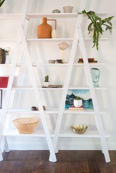 DIY A Frame Ladder Shelves-5