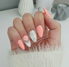Stunning Designs for Almond Nails You Won't Resist; almond nails long or s… Stunning Designs for Almond Nails You Won't Resist; almond nails long or s… Long Almond Nails, Almond Acrylic Nails, Acrylic Nails For Summer Almond, Acrylic Nails For Fall, Acrylic Nail Designs, Nail Art Designs, Fun Nails, Pretty Nails, Album Design