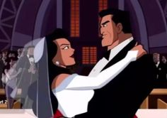 Batman: The Brave and the Bold Bruce and Selina wedding.... at least in this version he was lightened up enough to allow himself to get married