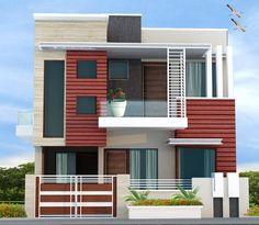 Home Design Drawing Building Elevation Bungalow House Design, House Front Design, Modern House Design, Duplex House, Exterior Wall Design, Exterior Paint Colors For House, Building Elevation, House Elevation, Elevation Plan