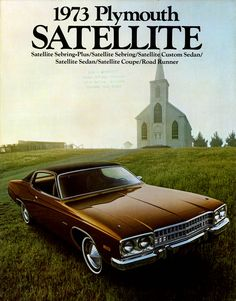 Old car ads. Gotta love them. Vintage Advertisements, Vintage Ads, Vintage Posters, Detroit, Plymouth Satellite, Car Brochure, Car Illustration, Car Advertising, Us Cars