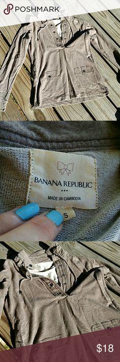 Banana Republic hoodie Excellent condition. Never worn.  Banana Republic Banana Republic Tops Sweatshirts & Hoodies