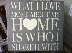 l + k + e: What I love most about my home sign -- DIY