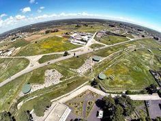 parco archeologico delle mura messapiche di Manduria, fonte pliniano visti dall'alto, Puglia