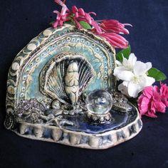 Born of the Sea Goddess Shrine Aqua and by LastChantsStudio, $35.00