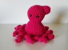 Squid Amigurumi Pink by AmigurumiByAli on Etsy, $13.00
