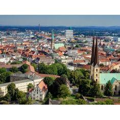 Bielefeld, Blick von Sparrenburg, Stadt Bielefeld, Fototapete Merian, Fotograf: K. Bossemeyer