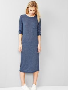 Gap Stripe Midi Dress (Blue)