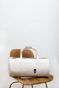 Duffle Bag w/ Vegetable Tanned Leather Sides