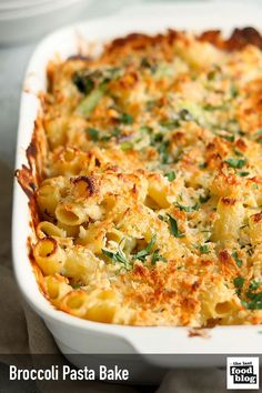 This Broccoli Pasta Bake is creamy, cheesy and delicious. With a crunchy, cheesy topping it's great for a tasty weeknight dinner. Easy to make and vegetarian. Baked Pasta Recipes Vegetarian, Healthy Pasta Bake, Cheesy Pasta Recipes, Baked Pasta Dishes, Italian Pasta Recipes, Broccoli Recipes, Savoury Recipes, Veggie Recipes, Recipes